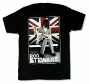 Rod Stewart Plaid Union Jack Tour 2014 T-shirt Tee Black S