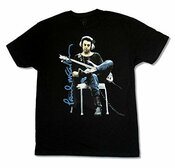 Paul Mccartney In Studio Sitting Black T-shirt New Official Adult Beatles Wings