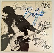 Collect Authentic Lp Coa #bs23356 Bruce Springsteen & Estreet Autographe Du Groupe Lp Coa